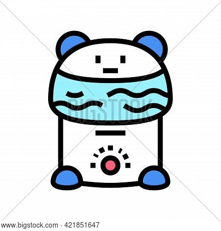 Humidifier Device Baby Color Icon Vector. Humidifier Device Baby Sign. Isolated Symbol Illustration