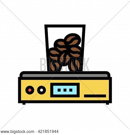 Coffee Grinder Device Color Icon Vector. Coffee Grinder Device Sign. Isolated Symbol Illustration