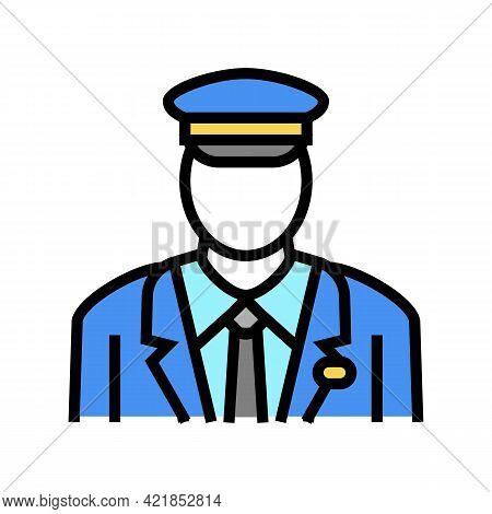 Pilot Flight School Color Icon Vector. Pilot Flight School Sign. Isolated Symbol Illustration