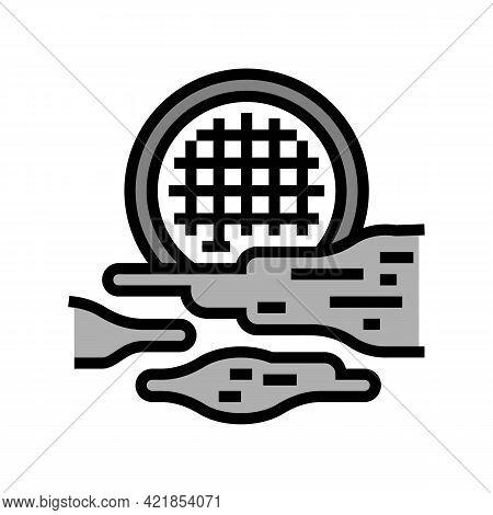 Fog Light Color Icon Vector. Fog Light Sign. Isolated Symbol Illustration