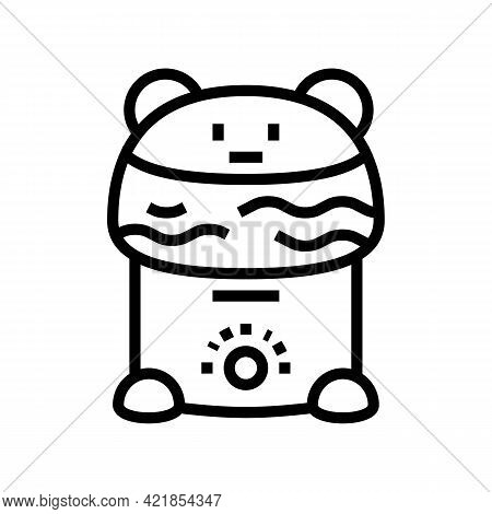 Humidifier Device Baby Line Icon Vector. Humidifier Device Baby Sign. Isolated Contour Symbol Black