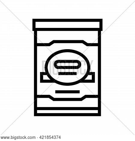 Milk Mister Food Baby Line Icon Vector. Milk Mister Food Baby Sign. Isolated Contour Symbol Black Il