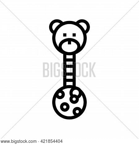 Educational Toy Baby Line Icon Vector. Educational Toy Baby Sign. Isolated Contour Symbol Black Illu