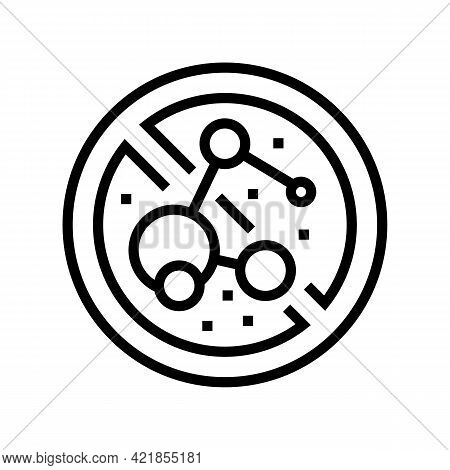 Stop Use Bacterial Soap Line Icon Vector. Stop Use Bacterial Soap Sign. Isolated Contour Symbol Blac