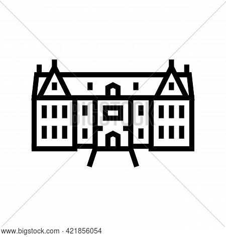 Mansion House Line Icon Vector. Mansion House Sign. Isolated Contour Symbol Black Illustration