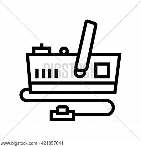 Generator Smoke Line Icon Vector. Generator Smoke Sign. Isolated Contour Symbol Black Illustration