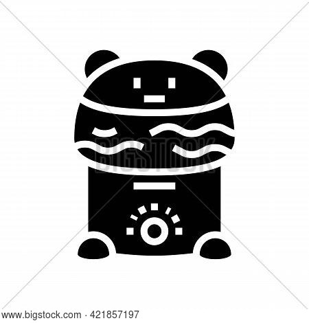 Humidifier Device Baby Glyph Icon Vector. Humidifier Device Baby Sign. Isolated Contour Symbol Black