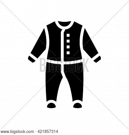 Body Clothes Baby Glyph Icon Vector. Body Clothes Baby Sign. Isolated Contour Symbol Black Illustrat