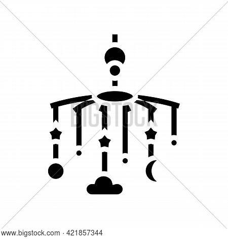Carousel Per Crib Baby Glyph Icon Vector. Carousel Per Crib Baby Sign. Isolated Contour Symbol Black