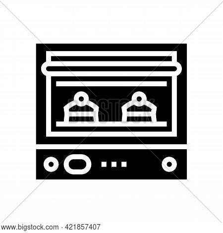 Oven Baking Dessert Glyph Icon Vector. Oven Baking Dessert Sign. Isolated Contour Symbol Black Illus