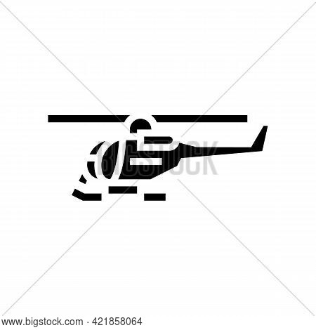 Helicopter Flight School Glyph Icon Vector. Helicopter Flight School Sign. Isolated Contour Symbol B