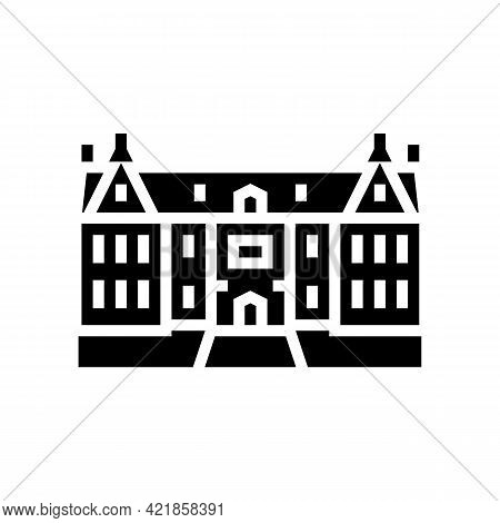 Mansion House Glyph Icon Vector. Mansion House Sign. Isolated Contour Symbol Black Illustration