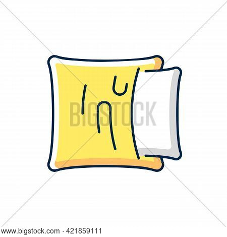Pillowcase Rgb Color Icon. Comfortable Cushion For Bed. Soft Pillow Cases. Textile Products, Househo