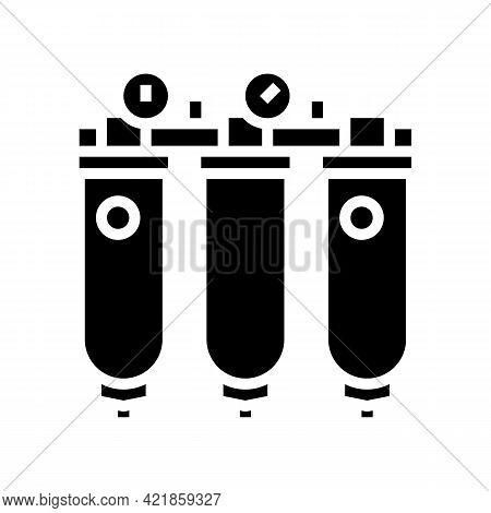 Air Purification System Glyph Icon Vector. Air Purification System Sign. Isolated Contour Symbol Bla