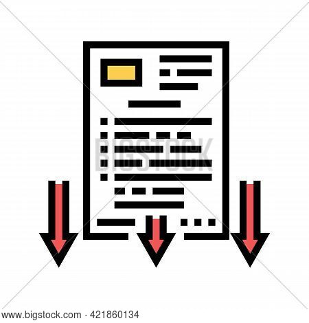 Lawsuit Document Color Icon Vector. Lawsuit Document Sign. Isolated Symbol Illustration