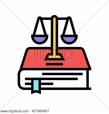 Constitution Law Color Icon Vector. Constitution Law Sign. Isolated Symbol Illustration