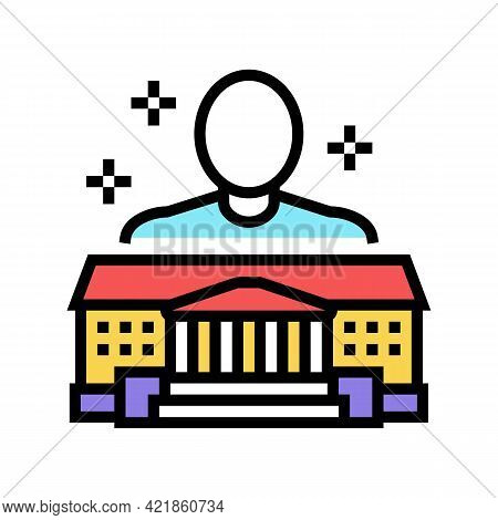 Authority Law Color Icon Vector. Authority Law Sign. Isolated Symbol Illustration