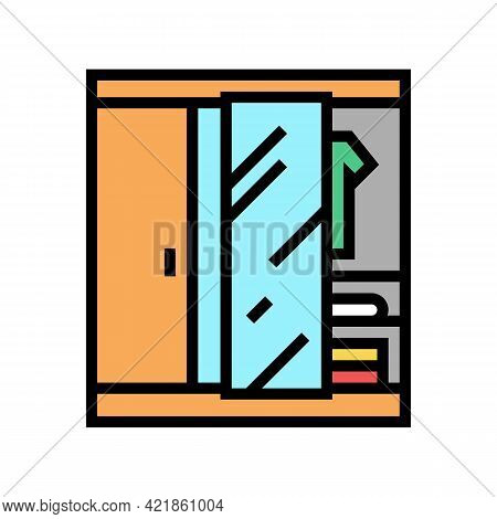 Wardrobe Room Motel Color Icon Vector. Wardrobe Room Motel Sign. Isolated Symbol Illustration