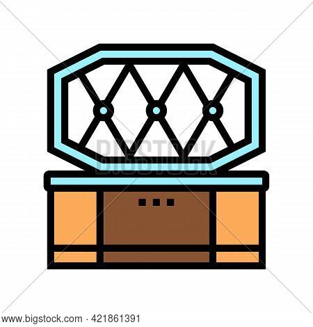 Coffin Pet Funeral Color Icon Vector. Coffin Pet Funeral Sign. Isolated Symbol Illustration
