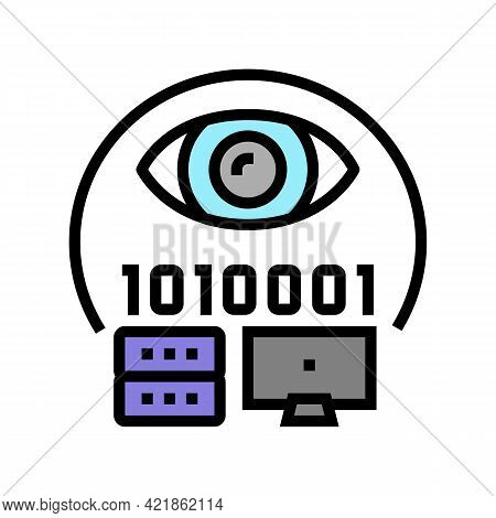 Electronic Fraud Color Icon Vector. Electronic Fraud Sign. Isolated Symbol Illustration