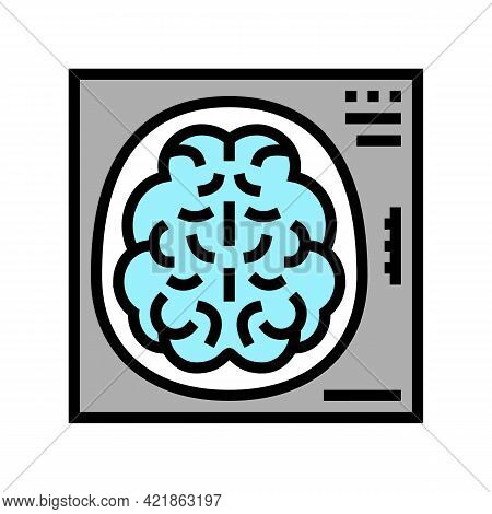 Mind X-ray Color Icon Vector. Mind X-ray Sign. Isolated Symbol Illustration
