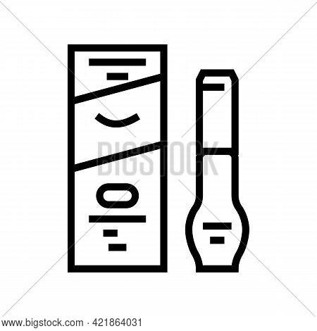 Degreaser Liquid For Eyelashes Line Icon Vector. Degreaser Liquid For Eyelashes Sign. Isolated Conto