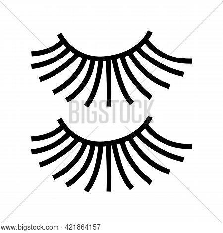 Beauty Accessory Eyelashes Line Icon Vector. Beauty Accessory Eyelashes Sign. Isolated Contour Symbo
