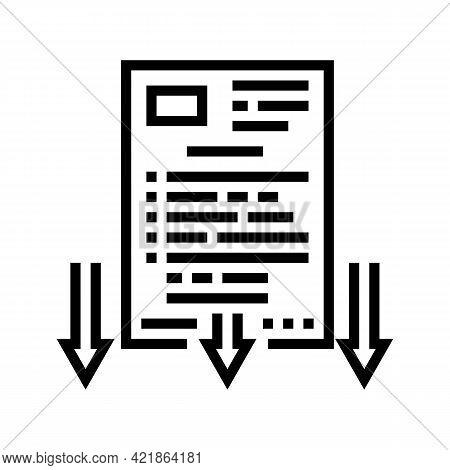 Lawsuit Document Line Icon Vector. Lawsuit Document Sign. Isolated Contour Symbol Black Illustration