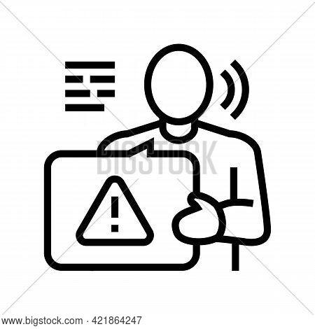 Prosecution Law Line Icon Vector. Prosecution Law Sign. Isolated Contour Symbol Black Illustration