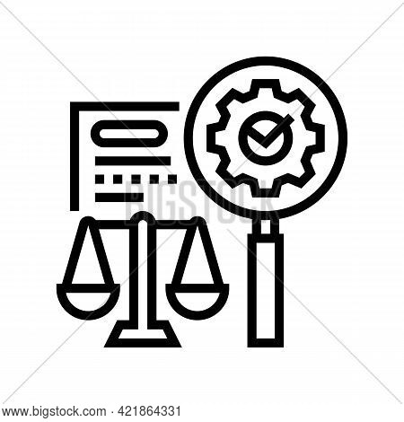 Expertise Law Line Icon Vector. Expertise Law Sign. Isolated Contour Symbol Black Illustration