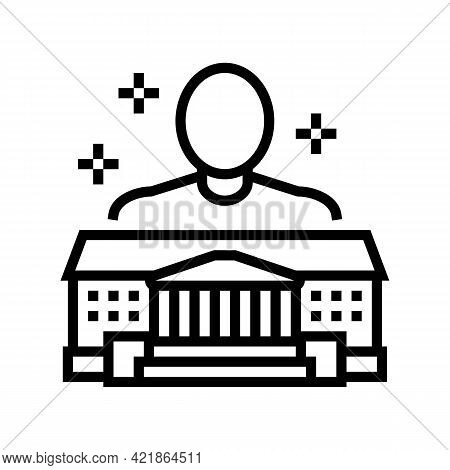 Authority Law Line Icon Vector. Authority Law Sign. Isolated Contour Symbol Black Illustration