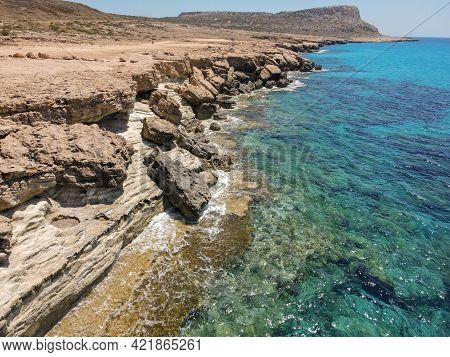 The Coast Near Ayia Napa In Cyprus