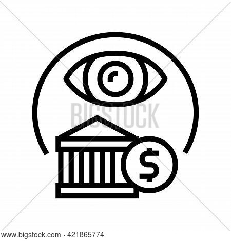 Insurance Claims Line Icon Vector. Insurance Claims Sign. Isolated Contour Symbol Black Illustration