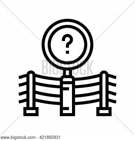 Accident Investigation Line Icon Vector. Accident Investigation Sign. Isolated Contour Symbol Black