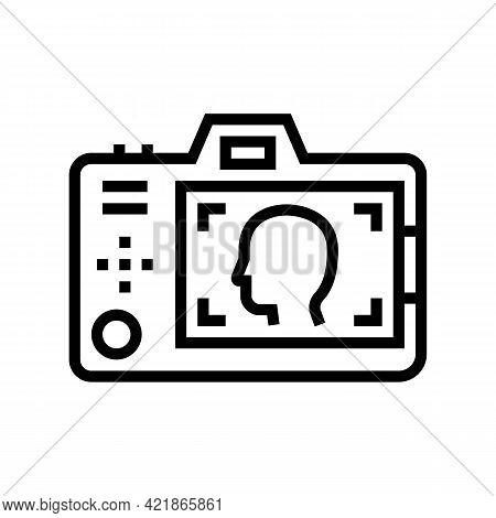 Surveillance Detective Occupation Line Icon Vector. Surveillance Detective Occupation Sign. Isolated