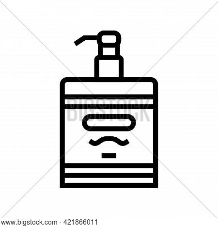 Lotion After Shave Line Icon Vector. Lotion After Shave Sign. Isolated Contour Symbol Black Illustra