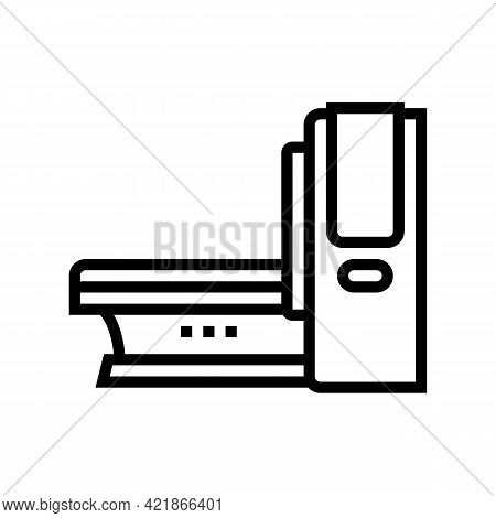 Mri Medical Equipment Line Icon Vector. Mri Medical Equipment Sign. Isolated Contour Symbol Black Il