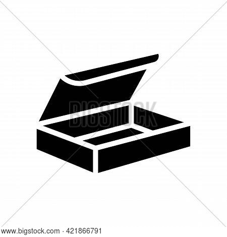 Delivering Package Box Glyph Icon Vector. Delivering Package Box Sign. Isolated Contour Symbol Black