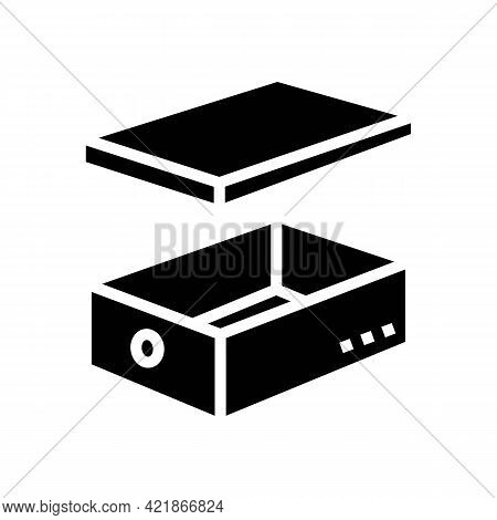 Women Shoes Box Glyph Icon Vector. Women Shoes Box Sign. Isolated Contour Symbol Black Illustration