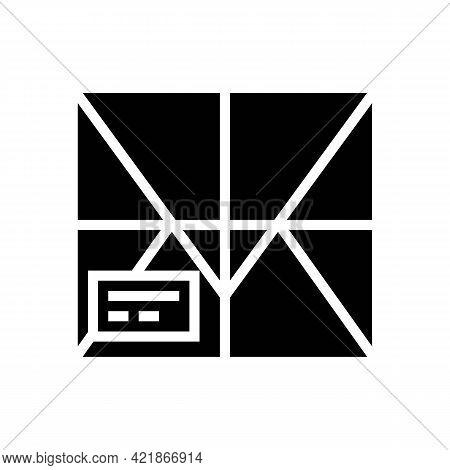 Parcel Box Glyph Icon Vector. Parcel Box Sign. Isolated Contour Symbol Black Illustration