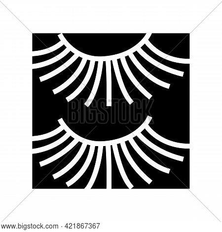 Beauty Accessory Eyelashes Glyph Icon Vector. Beauty Accessory Eyelashes Sign. Isolated Contour Symb