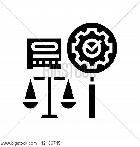 Expertise Law Glyph Icon Vector. Expertise Law Sign. Isolated Contour Symbol Black Illustration