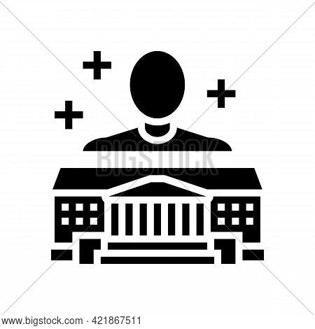Authority Law Glyph Icon Vector. Authority Law Sign. Isolated Contour Symbol Black Illustration