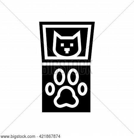 Paw Pals Paw Print Kit Glyph Icon Vector. Paw Pals Paw Print Kit Sign. Isolated Contour Symbol Black