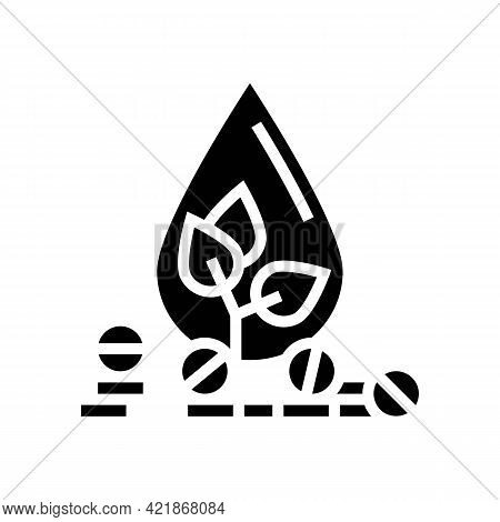 Medicaments For Blood Phytotherapy Glyph Icon Vector. Medicaments For Blood Phytotherapy Sign. Isola