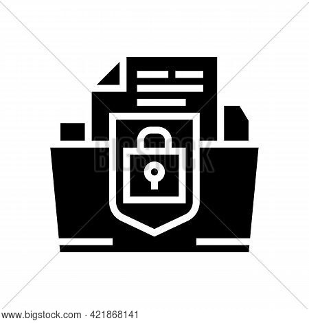 Protection Of Intellectual Property Glyph Icon Vector. Protection Of Intellectual Property Sign. Iso