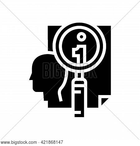 Personal Information Research Detective Glyph Icon Vector. Personal Information Research Detective S