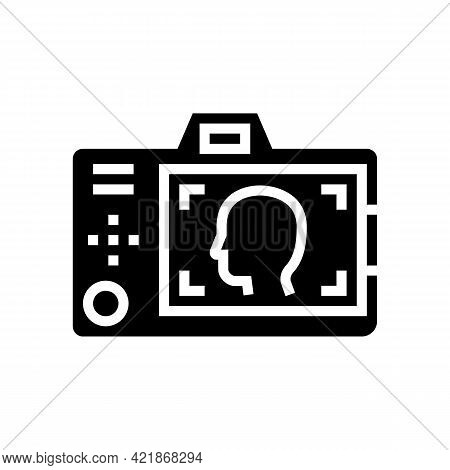 Surveillance Detective Occupation Glyph Icon Vector. Surveillance Detective Occupation Sign. Isolate