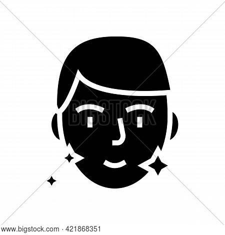 Shaved Face Man Glyph Icon Vector. Shaved Face Man Sign. Isolated Contour Symbol Black Illustration
