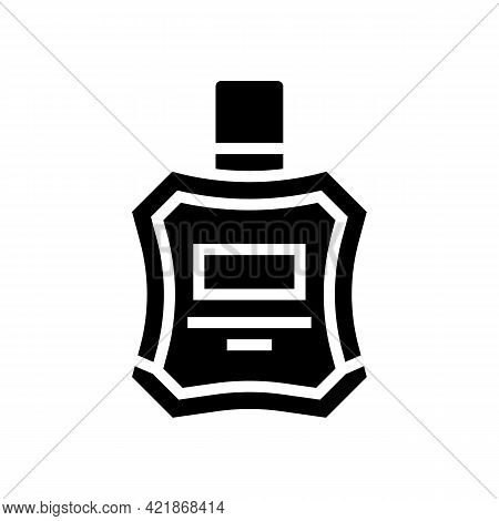 Cologne Perfume After Shaving Glyph Icon Vector. Cologne Perfume After Shaving Sign. Isolated Contou